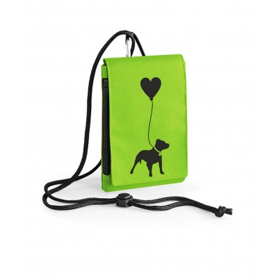 Dog (Breed) with Heart Balloon - Phone Pouch