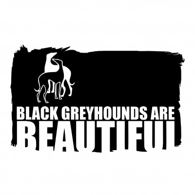 Black Greyhounds Are Beautiful
