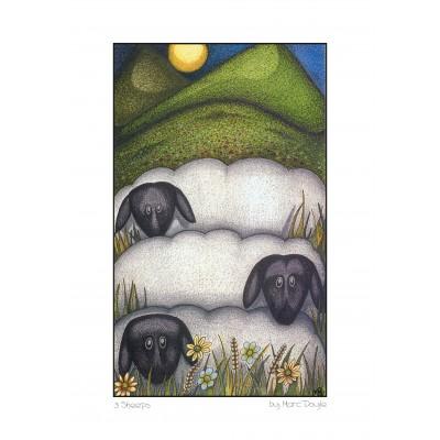 3 Sheeps - A3 Print