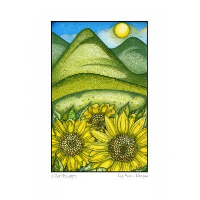 3 Sunflowers - A3 Print