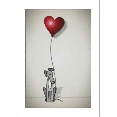 Greyhound Balloon - A4 Print
