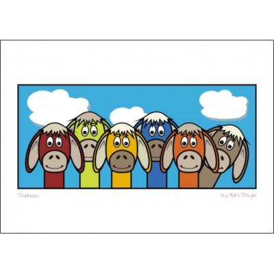 Donkeys - A3 Print