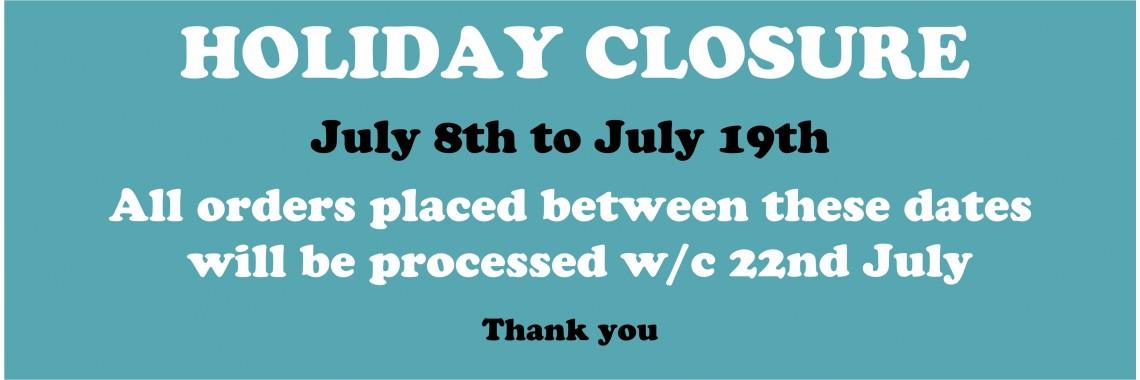 Holiday Closure...