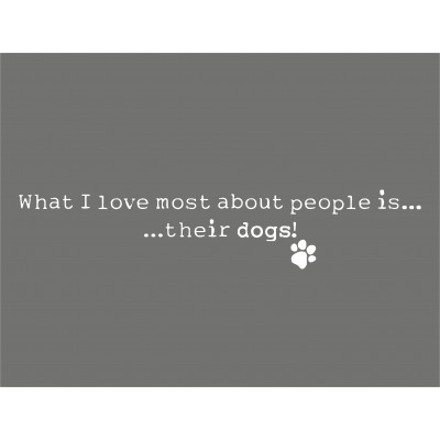 What I Love Most About People Is...