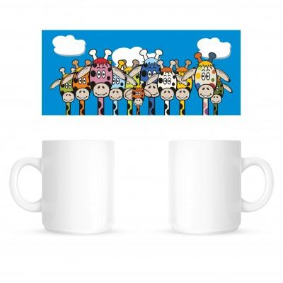 Giraffes Wrap - Coffee Mug