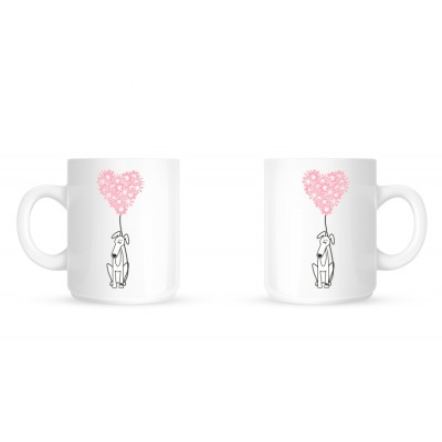 Greyhound Flowers - Coffee Mug