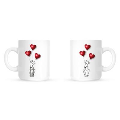 Greyhound Hearts - Coffee Mug