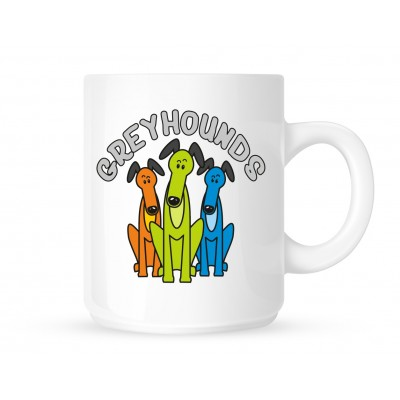 Cartoon Greyhounds - Coffee Mug