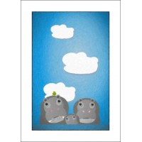 Happy Hippos - A4 Print