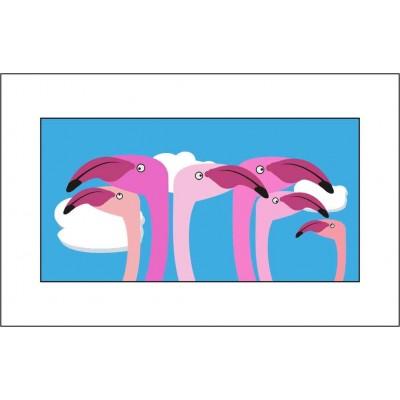 Flamingos - A3 Print