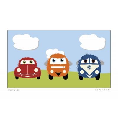 3 Fluffy VW's - A3 Print