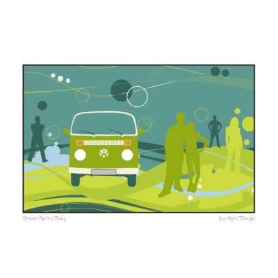 Green Retro Bay - A3 Print