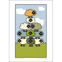Acrobatic Sheep - A3 Print