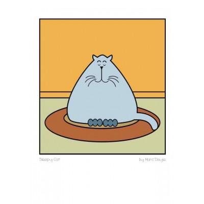 Sleepy Cat - A3 Print